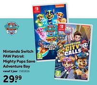 Aanbiedingen Nintendo switch paw patrol mighty pups save adventure bay - Outright Games - Geldig van 02/10/2021 tot 05/12/2021 bij Intertoys