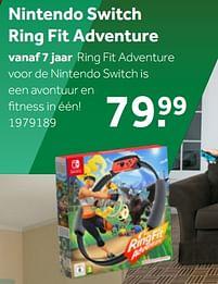 Aanbiedingen Nintendo switch ring fit adventure - Nintendo - Geldig van 02/10/2021 tot 05/12/2021 bij Intertoys