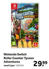 Aanbiedingen Nintendo switch roller coaster tycoon adventures - Atari - Geldig van 02/10/2021 tot 05/12/2021 bij Intertoys