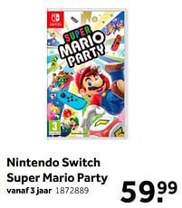 Aanbiedingen Nintendo switch super mario party - Nintendo - Geldig van 02/10/2021 tot 05/12/2021 bij Intertoys