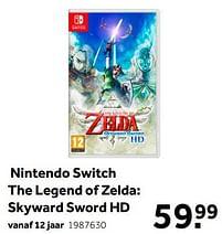 Aanbiedingen Nintendo switch the legend of zelda skyward sword hd - Nintendo - Geldig van 02/10/2021 tot 05/12/2021 bij Intertoys