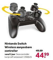 Aanbiedingen Nintendo switch wireless aanpasbare controller - Nintendo - Geldig van 02/10/2021 tot 05/12/2021 bij Intertoys