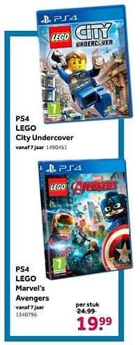 Aanbiedingen Ps4 lego city undercover - Warner Brothers Interactive Entertainment - Geldig van 02/10/2021 tot 05/12/2021 bij Intertoys