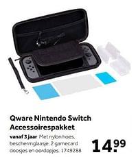 Aanbiedingen Qware nintendo switch accessoirespakket - Qware - Geldig van 02/10/2021 tot 05/12/2021 bij Intertoys