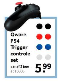 Aanbiedingen Qware ps4 trigger controle set - Qware - Geldig van 02/10/2021 tot 05/12/2021 bij Intertoys
