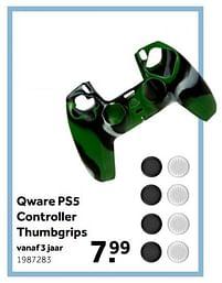 Aanbiedingen Qware ps5 controller thumbgrips - Qware - Geldig van 02/10/2021 tot 05/12/2021 bij Intertoys