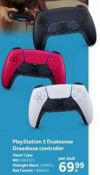 Aanbiedingen Sony playstation 5 dualsense draadloze controller wit - Sony - Geldig van 02/10/2021 tot 05/12/2021 bij Intertoys