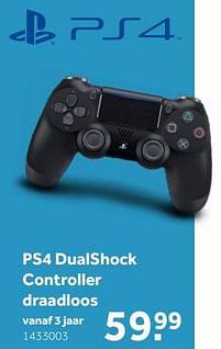 Aanbiedingen Sony ps4 dualshock controller draadloos - Sony - Geldig van 02/10/2021 tot 05/12/2021 bij Intertoys