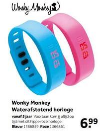 Aanbiedingen Wonky monkey waterafstotend horloge blauw - Wonky Monkey - Geldig van 02/10/2021 tot 05/12/2021 bij Intertoys