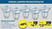 Aanbiedingen Osram gu10 spot - Osram - Geldig van 19/10/2021 tot 15/11/2021 bij Zelfbouwmarkt