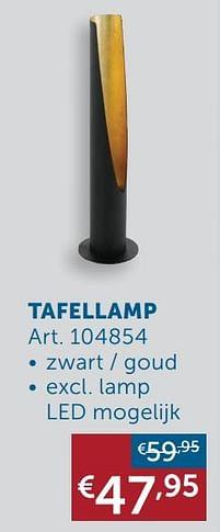 Aanbiedingen Tafellamp -  - Geldig van 19/10/2021 tot 15/11/2021 bij Zelfbouwmarkt