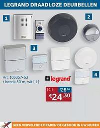 Aanbiedingen Legrand draadloze deurbellen wit - Legrand - Geldig van 19/10/2021 tot 15/11/2021 bij Zelfbouwmarkt