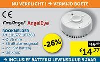 Aanbiedingen Rookmelder - AngelEye - Geldig van 19/10/2021 tot 15/11/2021 bij Zelfbouwmarkt
