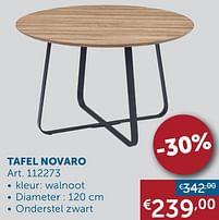 Aanbiedingen Tafel novaro -  - Geldig van 19/10/2021 tot 15/11/2021 bij Zelfbouwmarkt