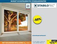 Aanbiedingen Schuifraam antraciet - Stabilotec - Geldig van 19/10/2021 tot 15/11/2021 bij Zelfbouwmarkt