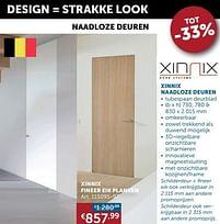 Aanbiedingen Xinnix fineer eik planken - Xinnix - Geldig van 19/10/2021 tot 15/11/2021 bij Zelfbouwmarkt