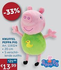 Aanbiedingen Knuffel peppa pig - Peppa  Pig - Geldig van 19/10/2021 tot 15/11/2021 bij Zelfbouwmarkt