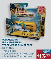 Aanbiedingen Robot-auto transformers cyberverse bumblebee - Hasbro - Geldig van 19/10/2021 tot 15/11/2021 bij Zelfbouwmarkt