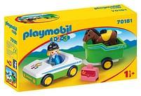 Aanbiedingen 70181 Wagen met paardentrailer - Playmobil - Geldig van 11/10/2021 tot 25/10/2021 bij Toychamp