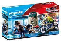 Aanbiedingen 70572 Politiemotor Achtervolging van de geldrover - Playmobil - Geldig van 11/10/2021 tot 25/10/2021 bij Toychamp