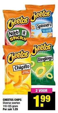Aanbiedingen Cheetos chips - Cheetos - Geldig van 11/10/2021 tot 24/10/2021 bij Big Bazar