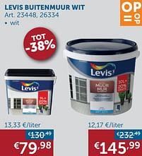 Aanbiedingen Levis buitenmuur wit - Levis - Geldig van 19/10/2021 tot 15/11/2021 bij Zelfbouwmarkt