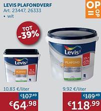 Aanbiedingen Levis plafondverf - Levis - Geldig van 19/10/2021 tot 15/11/2021 bij Zelfbouwmarkt