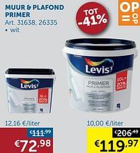 Aanbiedingen Muur + plafond primer - Levis - Geldig van 19/10/2021 tot 15/11/2021 bij Zelfbouwmarkt