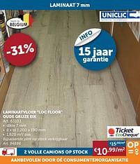 Aanbiedingen Laminaatvloer loc floor oude grijze eik -  - Geldig van 19/10/2021 tot 15/11/2021 bij Zelfbouwmarkt