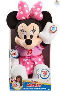Aanbiedingen Minnie - Knuffel 30cm met licht en geluid - Disney - Geldig van 15/10/2021 tot 29/10/2021 bij Toychamp