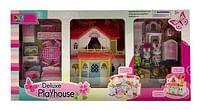 Aanbiedingen Luxe speelhuis met meubeltjes en konijnenfamilie -  - Geldig van 15/10/2021 tot 29/10/2021 bij Toychamp