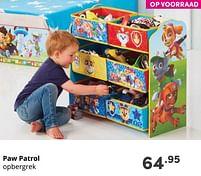 Aanbiedingen Paw patrol opbergrek - PAW  PATROL - Geldig van 17/10/2021 tot 23/10/2021 bij Baby & Tiener Megastore