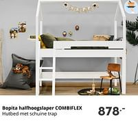 Aanbiedingen Bopita halfhoogslaper combiflex - Bopita - Geldig van 17/10/2021 tot 23/10/2021 bij Baby & Tiener Megastore