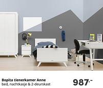 Aanbiedingen Bopita tienerkamer anne - Bopita - Geldig van 17/10/2021 tot 23/10/2021 bij Baby & Tiener Megastore