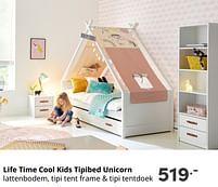 Aanbiedingen Life time cool kids tipibed unicorn - Lifetime - Geldig van 17/10/2021 tot 23/10/2021 bij Baby & Tiener Megastore