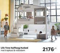 Aanbiedingen Life time halfhoog hutbed - Lifetime - Geldig van 17/10/2021 tot 23/10/2021 bij Baby & Tiener Megastore