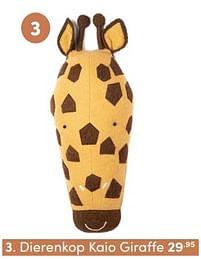 Aanbiedingen Dierenkop kaio giraffe - KidsDepot - Geldig van 17/10/2021 tot 23/10/2021 bij Baby & Tiener Megastore