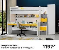 Aanbiedingen Hoogslaper neo - Huismerk - Baby & Tiener Megastore - Geldig van 17/10/2021 tot 23/10/2021 bij Baby & Tiener Megastore