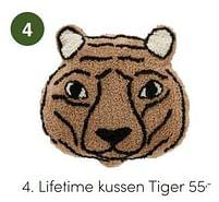 Aanbiedingen Lifetime kussen tiger - Lifetime - Geldig van 17/10/2021 tot 23/10/2021 bij Baby & Tiener Megastore