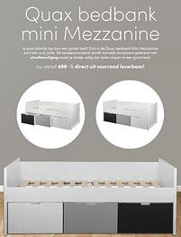 Aanbiedingen Quax bedbank mini mezzanine - Quax - Geldig van 17/10/2021 tot 23/10/2021 bij Baby & Tiener Megastore