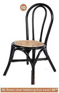 Aanbiedingen Rotan stoel webbing ava zwart - KidsDepot - Geldig van 17/10/2021 tot 23/10/2021 bij Baby & Tiener Megastore