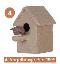 Aanbiedingen Vogelhuisje piet - KidsDepot - Geldig van 17/10/2021 tot 23/10/2021 bij Baby & Tiener Megastore