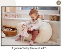 Aanbiedingen Jollein teddy feuteuil - Jollein - Geldig van 17/10/2021 tot 23/10/2021 bij Baby & Tiener Megastore