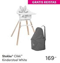 Aanbiedingen Stokke clikk kinderstoel white - Stokke - Geldig van 17/10/2021 tot 23/10/2021 bij Baby & Tiener Megastore