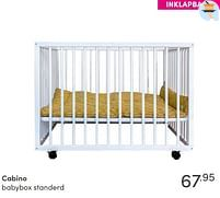 Aanbiedingen Cabino babybox standerd - Cabino - Geldig van 17/10/2021 tot 23/10/2021 bij Baby & Tiener Megastore