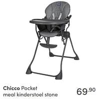 Aanbiedingen Chicco pocket meal kinderstoel stone - Chicco - Geldig van 17/10/2021 tot 23/10/2021 bij Baby & Tiener Megastore