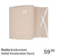 Aanbiedingen Koeka boxbumper wafel amsterdam sand - Koeka - Geldig van 17/10/2021 tot 23/10/2021 bij Baby & Tiener Megastore