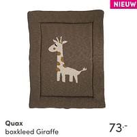 Aanbiedingen Quax boxkleed giraffe - Quax - Geldig van 17/10/2021 tot 23/10/2021 bij Baby & Tiener Megastore