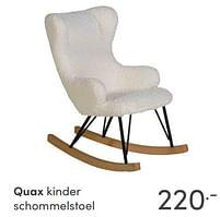 Aanbiedingen Quax kinder schommelstoel - Quax - Geldig van 17/10/2021 tot 23/10/2021 bij Baby & Tiener Megastore