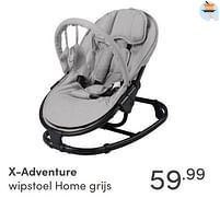 Aanbiedingen X-adventure wipstoel home grijs - Xadventure - Geldig van 17/10/2021 tot 23/10/2021 bij Baby & Tiener Megastore